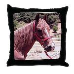 Horse Coca -Throw Pillow