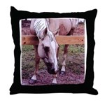 Laredo Palomino Horse Throw Pillow