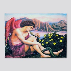Angel with Serpent 5'x7'Area Rug