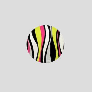 Neon Waves Mini Button
