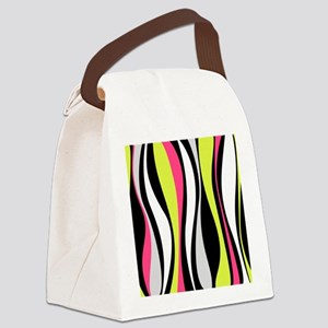 Neon Waves Canvas Lunch Bag