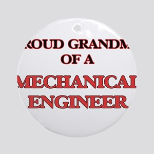 Proud Grandma of a Mechanical Engin Round Ornament