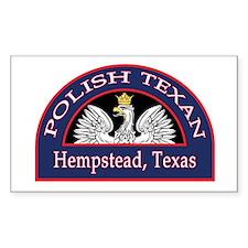 Hempstead Polish Texan Rectangle Sticker