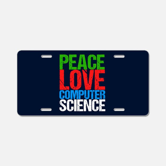 Computer Science Aluminum License Plate
