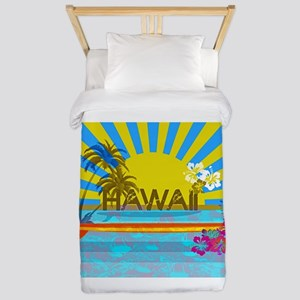 Hawaii Bright Colorful Colors Twin Duvet