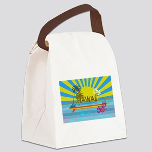 Hawaii Bright Colorful Colors Canvas Lunch Bag