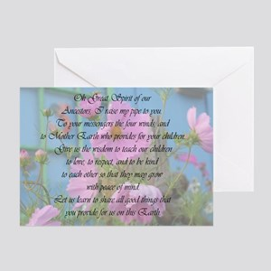 Give Us Wisdom Great Spirit Greeting Card