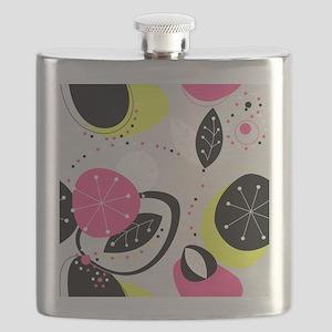 Neon Leaves Flask