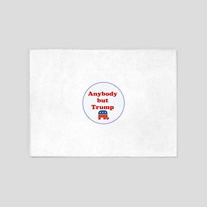 Anybody but Trump 5'x7'Area Rug