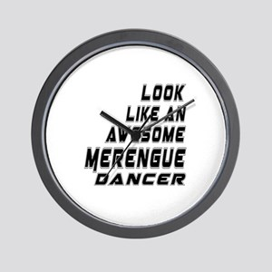 Look Like Merengue Dancer Wall Clock