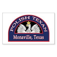 Monaville Polish Texan Rectangle Sticker