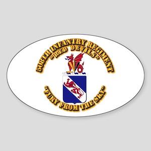 COA - 508th Infantry Regiment Sticker (Oval)