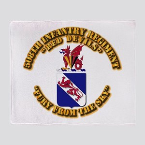 COA - 508th Infantry Regiment Throw Blanket