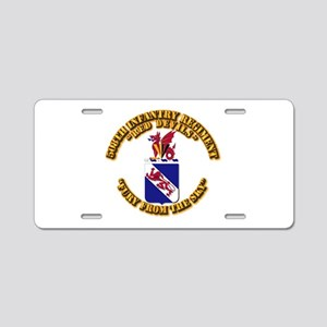COA - 508th Infantry Regime Aluminum License Plate