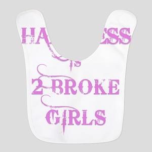 2 BROKE GIRLS HAPPINESS Polyester Baby Bib