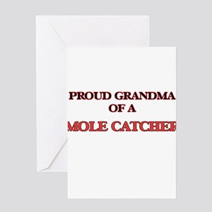 Proud Grandma of a Mole Catcher Greeting Cards