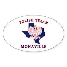 Monaville Polish Texan Oval Sticker
