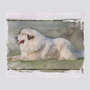 Great Pyrenees Aaron Throw Blanket