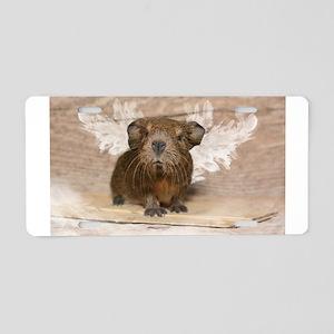 Angelic Little Guinea Pig Aluminum License Plate