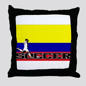 Colombia Flag Soccer Throw Pillow