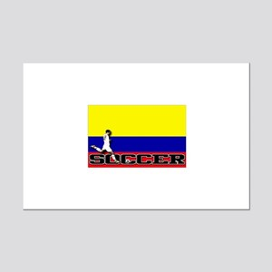 Colombia Flag Soccer Mini Poster Print