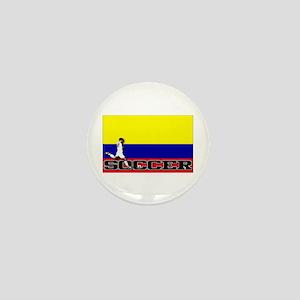 Colombia Flag Soccer Mini Button