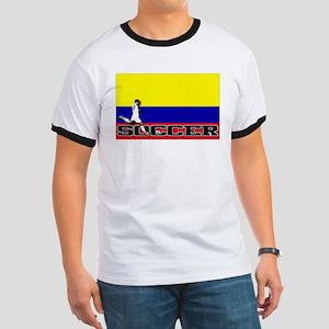Colombia Flag Soccer Ringer T