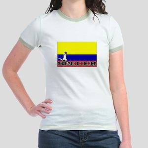 Colombia Flag Soccer Jr. Ringer T-Shirt