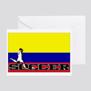 Colombia Flag Soccer Greeting Card