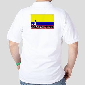 Colombia Flag Soccer Golf Shirt
