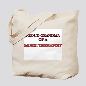 Proud Grandma of a Music Therapist Tote Bag