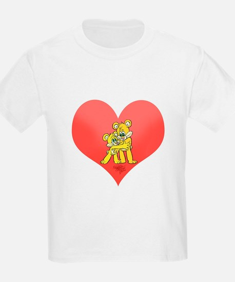Two bears hugging on a heart. T-Shirt