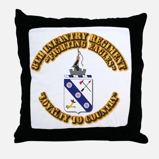 COA - 8th Infantry Regiment Throw Pillow