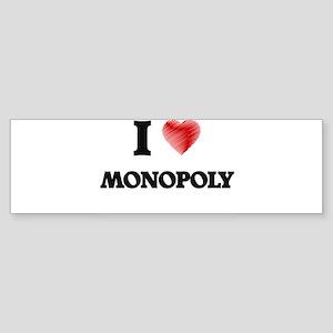 I Love Monopoly Bumper Sticker