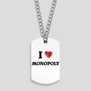 I Love Monopoly Dog Tags