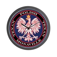 Monaville Round Polish Texan Wall Clock