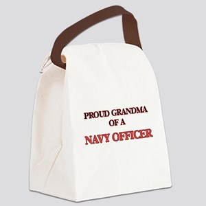 Proud Grandma of a Navy Officer Canvas Lunch Bag
