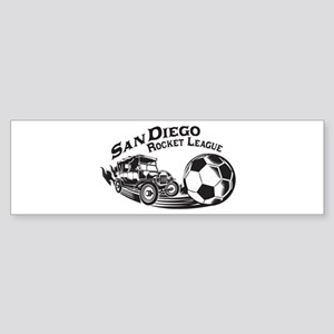 San Diego Rocket League Vintage Bumper Sticker