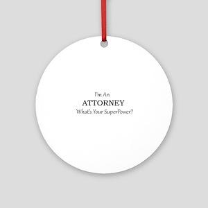 Attorney Round Ornament