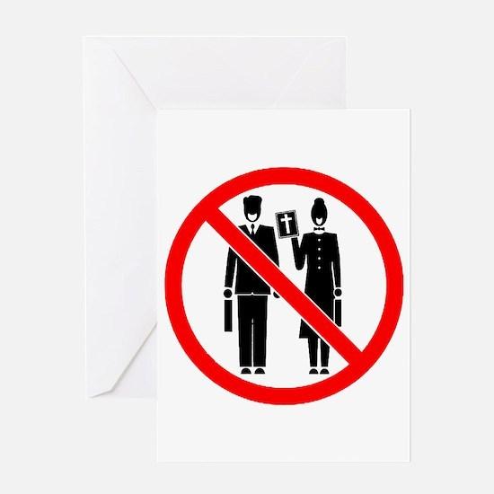 No Preaching Greeting Card