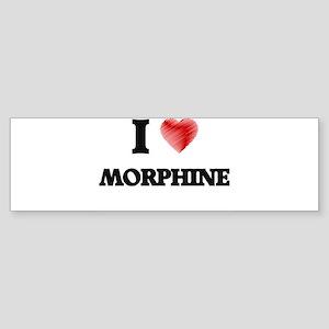 I Love Morphine Bumper Sticker