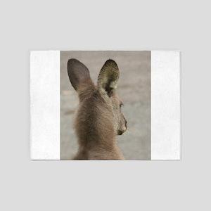 Australian Eastern Grey Kangaroo 5'x7'Area Rug