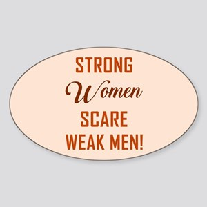 STRONG WOMEN SCARE... Sticker
