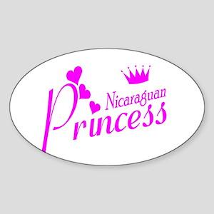 Nicaraguan Princess Oval Sticker