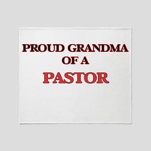 Proud Grandma of a Pastor Throw Blanket