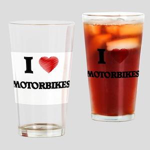 I Love Motorbikes Drinking Glass