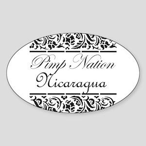 Pimp Nation Nicaragua Oval Sticker