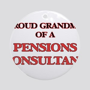 Proud Grandma of a Pensions Consult Round Ornament