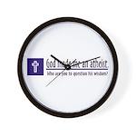 God Made Me An Atheist Wall Clock