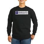 God Made Me An Atheist Long Sleeve Dark T-Shirt